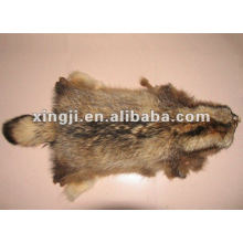 raw raccoon fur skin
