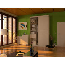 Customized Wooden Bedroom Wardrobe with Door Designs