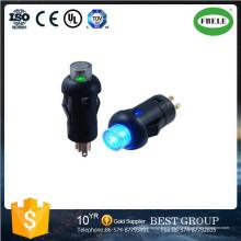 Kleiner Mini-Druckschalter mit LED, mit Lampen-Knopfschalter Instrumenten-Spezialschalter 7,5 mm mit dem Lichtschalter