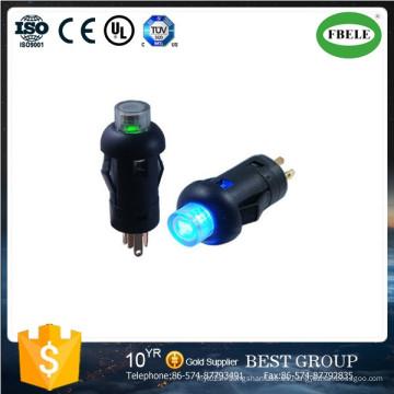 Pequeño mini interruptor de botón con LED, con interruptor de botón de lámpara Instrumentos Dedicado interruptor de botón de 7,5 mm con interruptor de luz