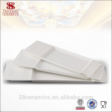 Unique design ceramic plate, white bone china dinnerware for restaurant