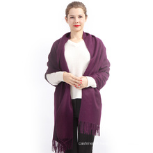 2017 Top Selling Fashion Elegant Ladies New Women's Fashion Purple 100% Cashmere Scarf