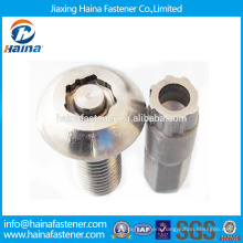 China Supplier In Stock YJT T 14581-201 Carbon Steel/Stainless steel Pan Head Anti-theft bolt with docroment/zinc plated surface