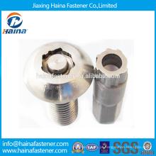 China Fornecedor Em Estoque YJT T 14581-201 Aço de carbono / aço inoxidável Pan Head Anti-roubo parafuso com docroment / zinco superfície chapeada