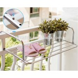 Outdoor stainless steel laundry hanger,adjustable cloth drying rack,wall mount rack