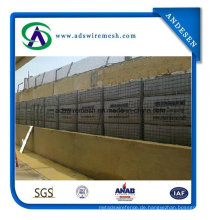 Hesco Barriers, Militärbastionen, Sprengmauer