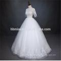 Роскошные кружева с коротким рукавом тяжелые из бисера белого цвета свадебное чжуншань платье с длина пола