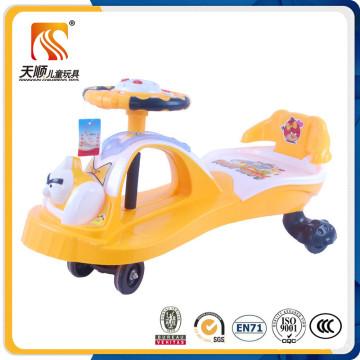 Nuevo PP Plastic Musical Baby Swing Car con respaldo