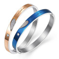 Personalisierte Namen Armreif Kristall Herz Edelstahl paar benutzerdefinierte graviert Armband