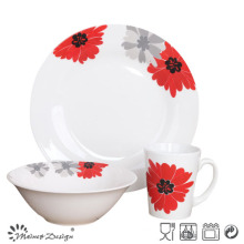 Decal Porcelain Ceramic Cheap 12PCS Dinner Set