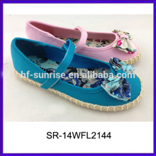 SR-14WFL2144 beautiful girls hemp rope shoes kids girls dress shoe kids shoes wholesale