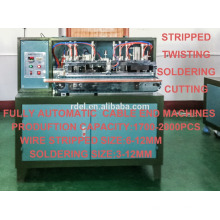 stripping / soldering / cutting / twisting wire machine / cable making machines