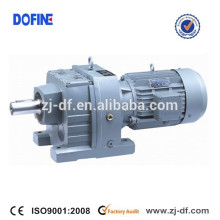 RF87 helical gearbox R series speed reducer geared motor for conveyor