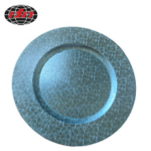 Light Blue Decoration Plastic Plate with Metallic Finish