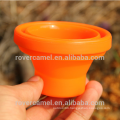 FMP-319 200ml Camping Travel Portable folding Silicon Mug Orange Portable water cup