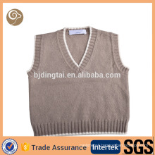 V neck knitted fashion cashmere baby vest