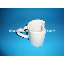 2015 new special shaped white ceramic mug