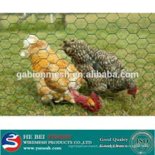 1/2 polegada PVC Revestido Galvanizado Hexagonal Wire Mesh / hexagonal fio de galinha alibaba china