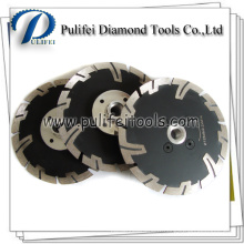 Disque de diamant sec de bride de segment de Turbo pour la coupe de meuleuse d'angle