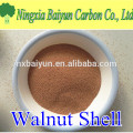 100 mesh abrasive walnut shell polishing media in powder form