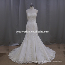 sweetheart neck sleeveless lace beach mermaid wedding dress