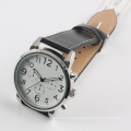 mens big watch dial quartz japan movement watch PU strap