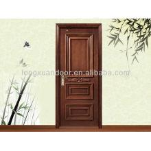 Catálogo de portas de madeira artesanal à venda, porta de madeira na China
