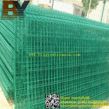 Valla de alambre de doble círculo recubierto de PVC
