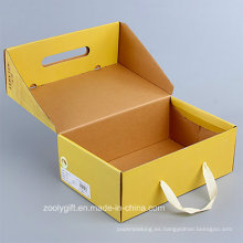 Personalizar caja de embalaje plegable de papel corrugado con mango