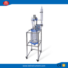Laboratory using distiller double jacketed glass reactor