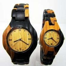 Hlw105 OEM Montre en bois de montre en bambou de montre en bois des hommes et des femmes de haute qualité