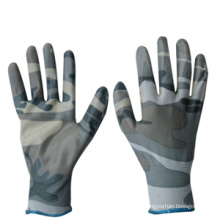 Camouflage Color PU Coated Work Glove