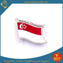 Singapore Flag Pin Badge for Gift in Zinc Alloy