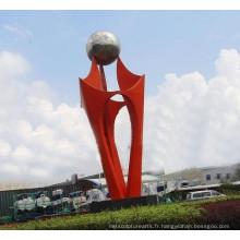Grande sculpture moderne en acier inoxydable moderne