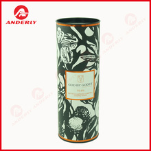 1-Piece Paper Tube with Metal Lid & Bottom