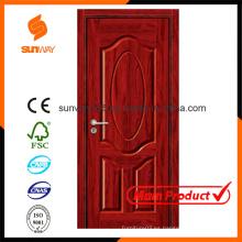 Color personalizado Ecología Decorativa Puerta de madera de melamina MDF Habitaciones de hotel