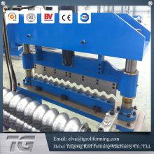 De alta calidad de aluminio corrugado panel de techo de metal de rollo que forma la máquina