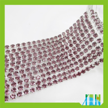 High Quality Rhinestone Cup Chain Glass Fancy Stone Cup ChainTrimming For Fashion dress Accessories