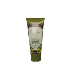 60 ml pequeno tubo de plástico transparente, tubo de plástico com tampa de rosca, tubo de papel cosmético com etiqueta para o cabelo