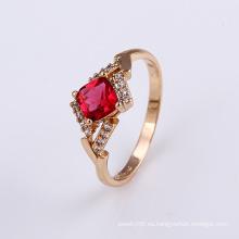 Diseño superior hermoso anillo de dedo de oro joyería de diseño de cristal para las mujeres -11824