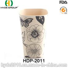 2016 diversos estilos Taza de fibra de bambú ecológica libre de BPA (HDP-2011)