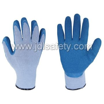 Polyester Work Glove with Latex Coating (LY3013) (CE APPROVED) -Blue