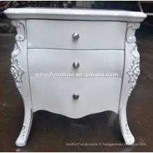 Table de chevet en bois blanc de style européen XYN84