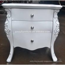 European style white wooden nightstand XYN84