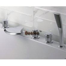 Mélangeur de douche de baignoire de cascade de laiton en laiton avec le jeu 5PCS