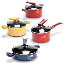 Korea Flower Aluminum Hard Anodizing cookware