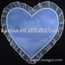Heart  Patches with lace edge