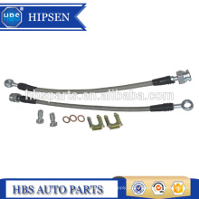"""11 """"comprimento de aço inoxidável mangueira de freio trançado / linhas de freio 10 MM M10X1.5 BANJO BOLT para GM Universal traseiro pinças"""
