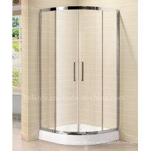 8 mm de vidrio templado simple ducha con marco de acero inoxidable (LTS-022)