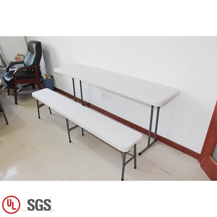White Plastic Portable Folding Bench